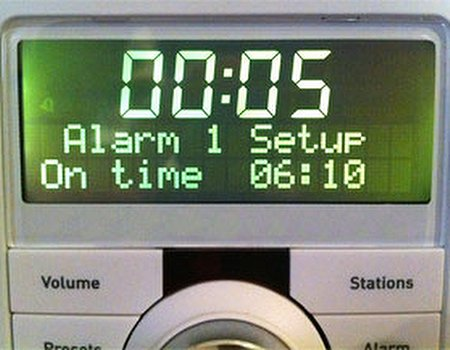 Time to Snooze the Alarm
