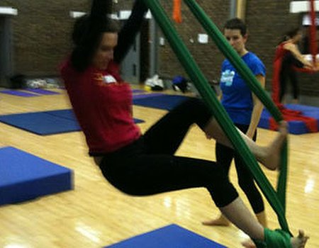 Tried and tested: aerial silks at Flying Fantastic