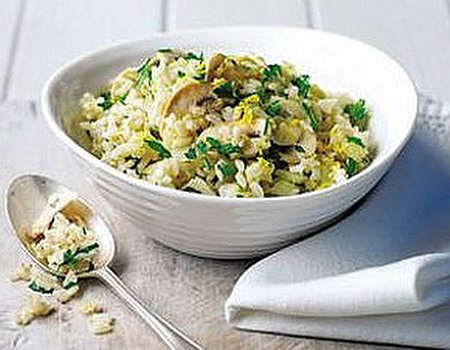 Herb, mushroom, garlic and lemon stuffing
