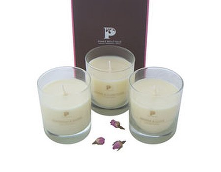 Tried and tested: Pinks Boutique scented spa candles