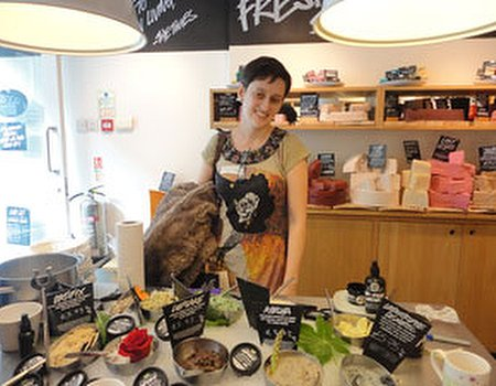 Tried and tested: facemask workshop with LUSH and Clipper Green Tea