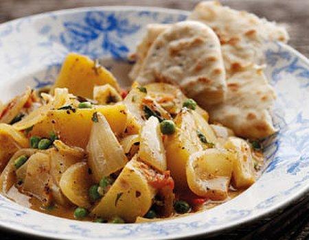 Onion and potato curry