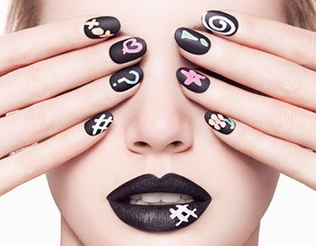 Treatwell loves: chalkboard nails