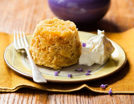 Mother's Day Sweet potato and lavender sponge